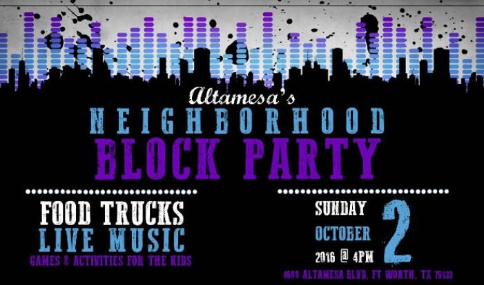 Altamesa's Neighborhood Block Party