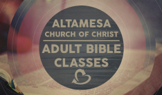 Sunday Morning Adult Bible Classes