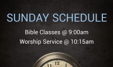 New Sunday Morning Schedule Beginning October 6